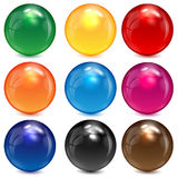 Set of colored spheres. On a white background Stock Image