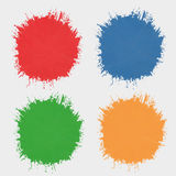 Set of colored spots  paint. Silhouettes the stain. Set of colored spots of paint. Silhouettes the stain Stock Photo