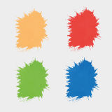Set of colored spots  paint. Silhouettes the stain. Set of colored spots of paint. Silhouettes the stain Stock Photos