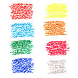 Set of colored spots of wax crayons Royalty Free Stock Photos