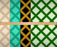 Set colored square pattern. cream, emerald, gold, green. Vector set colored square pattern. cream, emerald, gold, green Stock Images