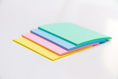 Set of colored sticker Stock Photo