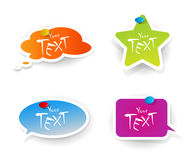 Set of colored stickers. Royalty Free Stock Image