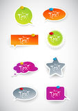 Set of colored stickers. Royalty Free Stock Photos
