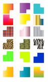 Set of colored stickers Royalty Free Stock Photo