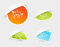 Set of colored stickers in pockets. Stock Image