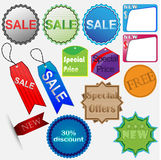 Set of colored stickers sale Stock Images