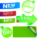 Set of colored stickers sale Stock Photos