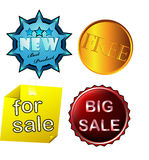 Set of colored stickers sale Stock Photo