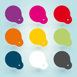 Set of colored stickers Royalty Free Stock Images