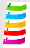 Set with colored stickers. Vector Royalty Free Stock Images