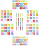 Set of colored sticky notes Stock Photo