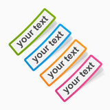 Set of colored sticky papers, banners. Stock Image
