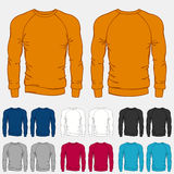 Set of colored sweatshirts templates for men Stock Image