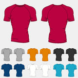 Set of colored t-shirts templates for men Stock Photography