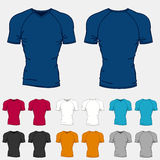 Set of colored t-shirts templates for men Royalty Free Stock Photo