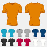 Set of colored t-shirts templates for men Stock Images