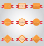 Set of colored tags and labels. Royalty Free Stock Image