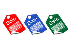Set of colored tags for sale Royalty Free Stock Image