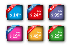 Set of colored tags for sale Royalty Free Stock Photo