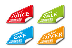 Set of colored tags for sale Royalty Free Stock Photography