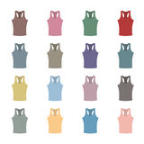 Set of colored tank top,  illustration. Royalty Free Stock Photography