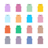 Set of colored tank top, vector illustration. Royalty Free Stock Photo
