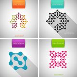 Set of colored tech patterns Royalty Free Stock Images
