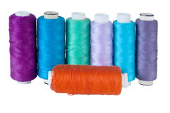 Set of colored thread Royalty Free Stock Photography