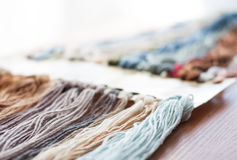 Set of colored threads Royalty Free Stock Images