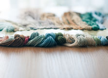 Set of colored threads Royalty Free Stock Photography