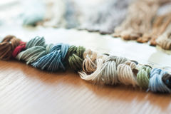 Set of colored threads Stock Images