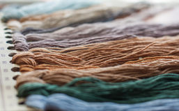 Set of colored threads Stock Photos