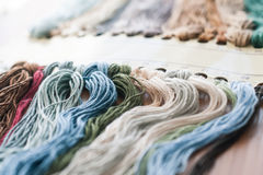 Set of colored threads Stock Photo