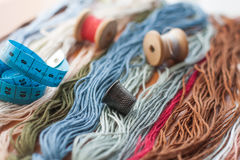 Set of colored threads Royalty Free Stock Image