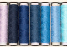 Set of colored threads for embroidery Stock Photos