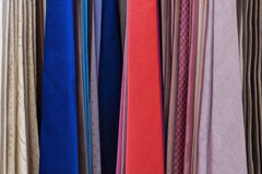 Set of colored ties. Close up Royalty Free Stock Images