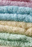 Set of colored towels Royalty Free Stock Photo