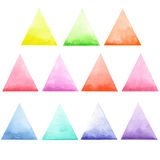 Set of colored triangles Stock Photos