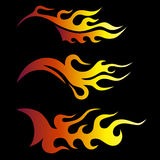 Set of colored tribal flames. Stock Image