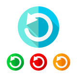 Set of colored update icons. Vector illustration.. Royalty Free Stock Photos