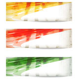 Set colored vector abstract banner Royalty Free Stock Image