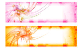 Set colored vector abstract banner Stock Photos