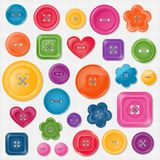 Set of colored vector buttons Royalty Free Stock Image