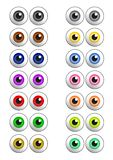 Set of colored vector eyes Stock Photo