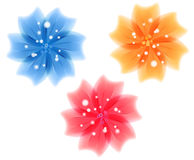 Set of the colored vector flowers Royalty Free Stock Photos