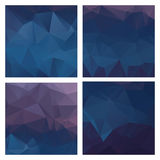 Set of colored vector patterns in geometric style royalty free illustration