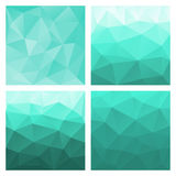Set of colored vector patterns in geometric style Stock Photo