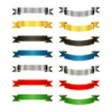 Set of colored vector ribbons and banners Stock Photo