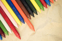 Set of colored wax crayons Stock Photography